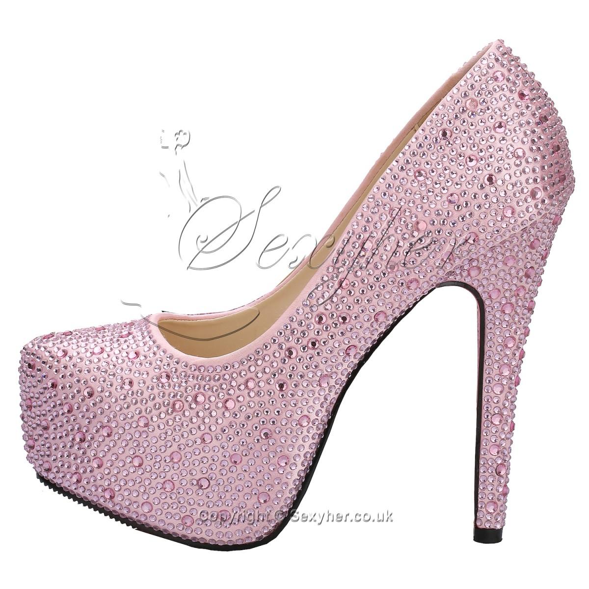 Beautiful Sparkling 5.5 Inches High Heel Platform Wedding