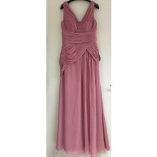 Beautiful V-neck Criss-Cross ruching Long Bridesmaids Ball Gown Dress-EDJ1319S/1