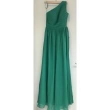 SEXYHER Full Length One Shoulder Chiffon Ruffles Bridesmaids Formal Evening Dress-EDJ1577S/2