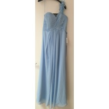 Fabulous One Shoulder Pleated Chiffon Long Eveing Briedsmaid Prom Dress-EDJ1329S/4