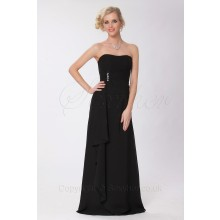 Elegant Strapless Chiffon Long Evening Bridesmaid Dress-ED9011S/8