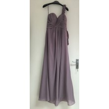 Fabulous One Shoulder Pleated Chiffon Long Eveing Briedsmaid Prom Dress-EDJ1329S/1