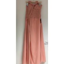 Sophisticated Side Cut V Neck Straps Long Prom Bridesmaids Dress-EDJ1320S/2