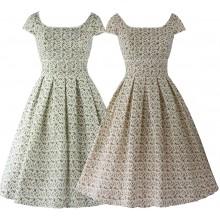 SEXYHER Ladies 1950's Vintage Style Scoop Neckline Classic Dress - RBYP1701S
