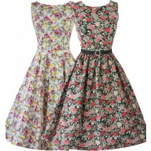 SEXYHER Ladies 1950's Vintage Style  Jewel  Neckline Classic Dress - RBYP1706S