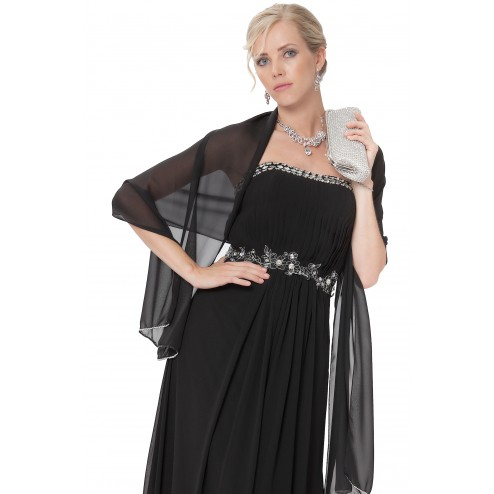 Chiffon Shawls-Scarves-Wraps With Beading In Several Colours