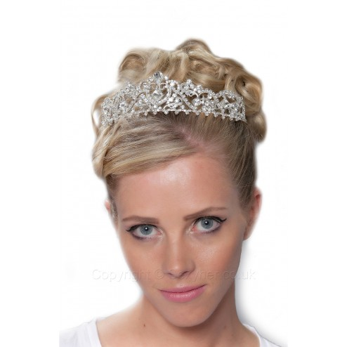 Beautiful Diamante Tiara With Clear Stones