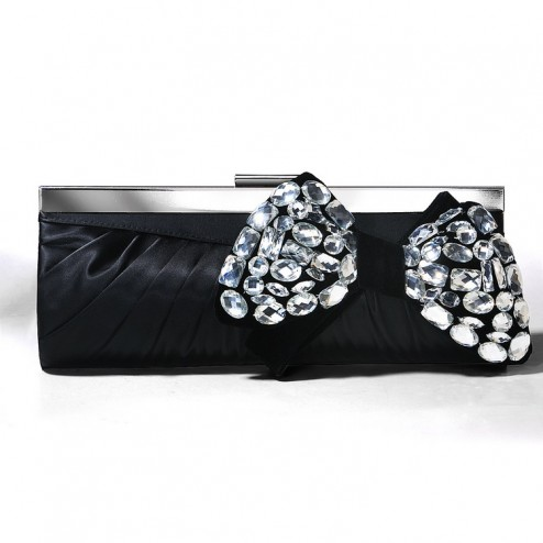 Lovely Evening Bag With Beaded Bow