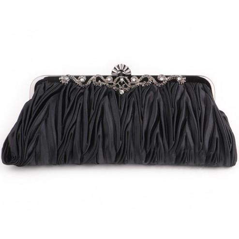 Classy Beaded Evening Clasped Handbag