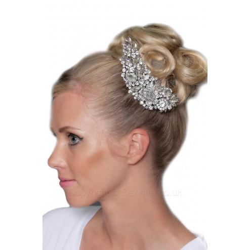 Adorable Crystal Jewel Diamante Hair Comb