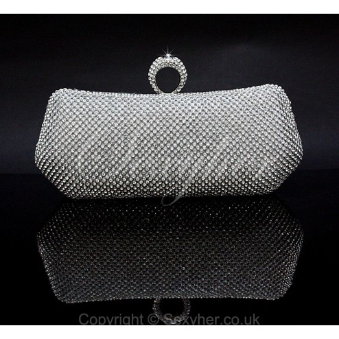 Sparkling and Glamour Evening Prom Bridal Clutch Bag
