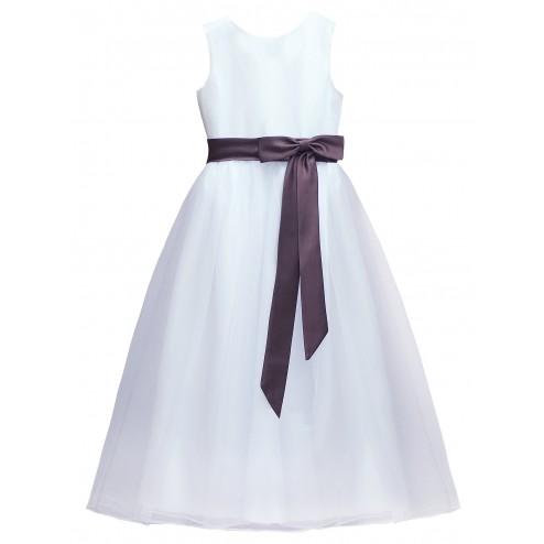 Lovely  A-line Princess Flower Girl Dress Junior Bridesmaids Dress